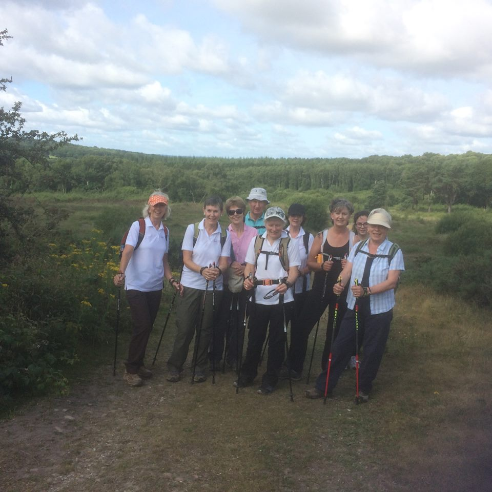 EDHF team on the East Devon Way at Aylesbeare Common